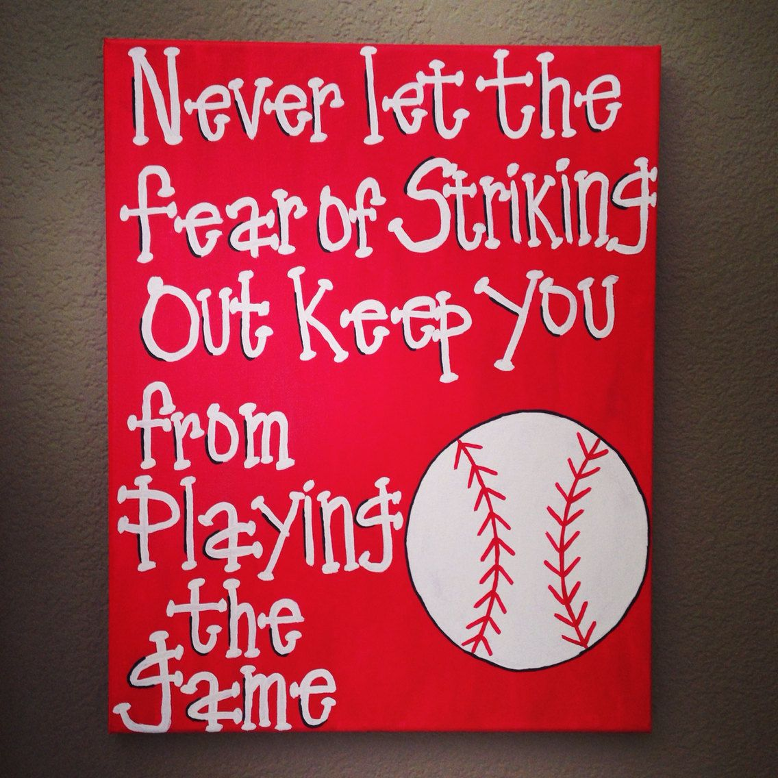 st louis cardinals baseball wall art never let the fear of