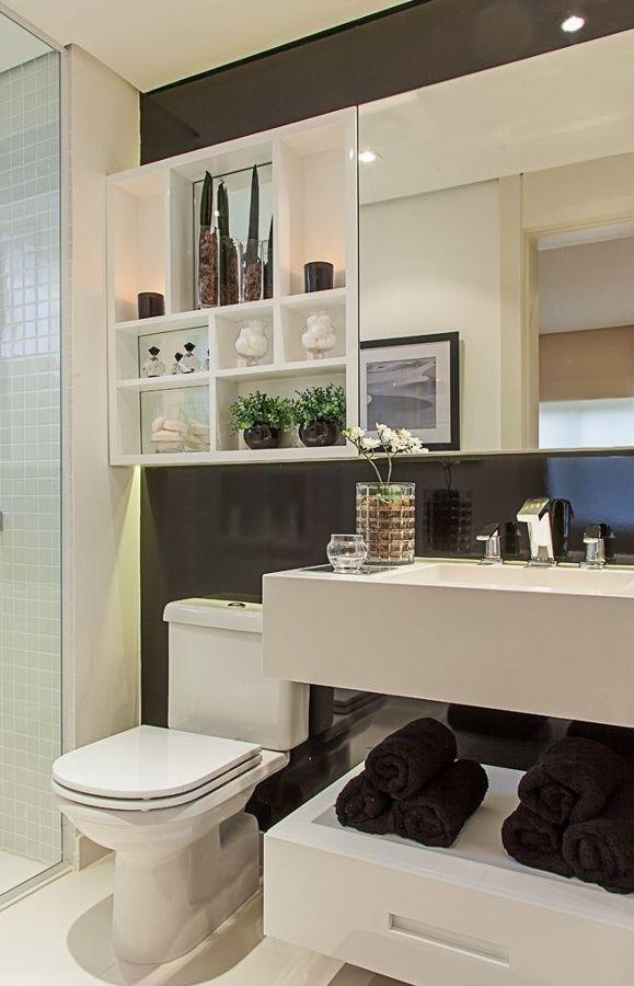 25+ melhores ideias de Gabinete banheiro com cuba no Pinterest  Banheiros pl -> Decoracao De Banheiro Do Casal