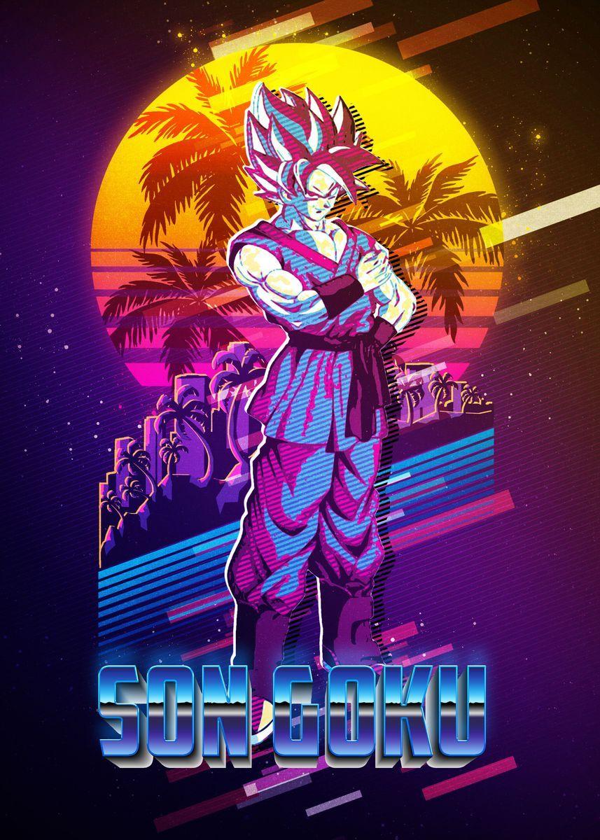 son goku dragon ball poster by the