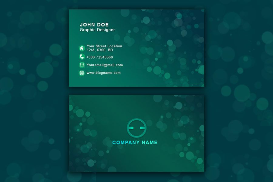 Water Color Business Card Psd Business Card Psd Free Business Card Templates Business Cards