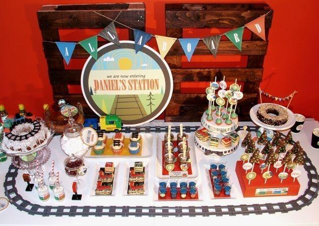 vintage train boys birthday - Google Search