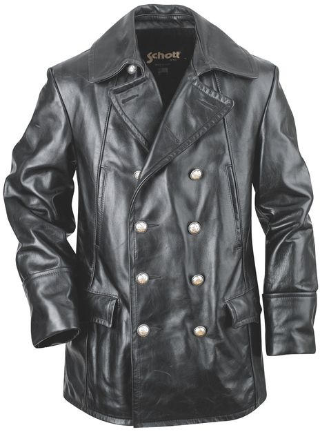 b01332b353597 Double Breasted Military Leather Jacket 650