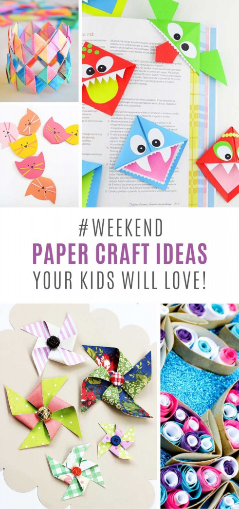 Your kids will love these paper craft ideas. From flying dragons to monster bookmarks and pattern pinwheels! Something for all ages! #papercrafts #paper #crafts #to #sell