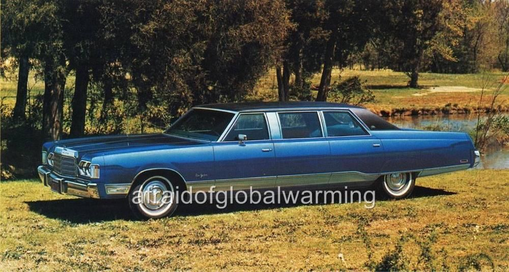 Old Photo Blue 1974 Chrysler 4 Door Limousine By Armbruster
