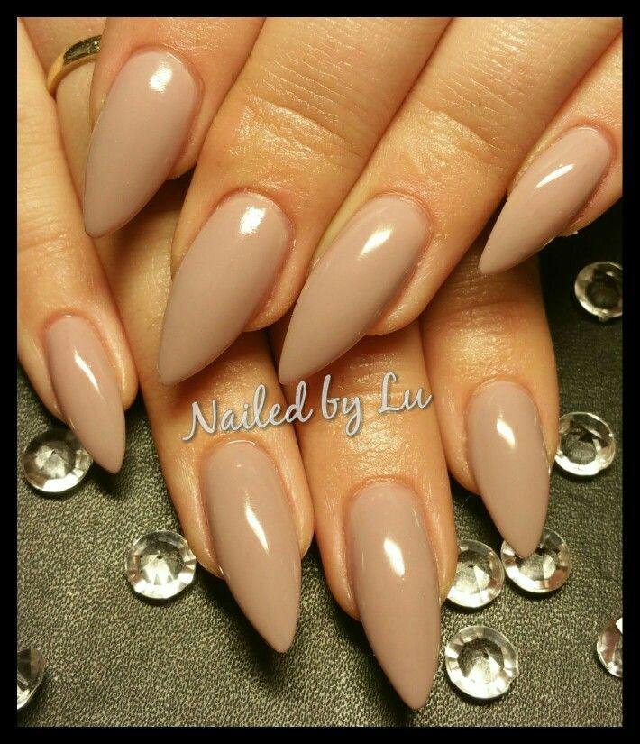 Nude acrylic claws | stiletto nails | gel mani | acrylic nails ...