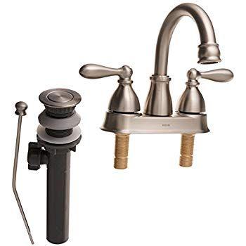 Moen WS84667SRN Caldwell TwoHandle Bathroom Faucet High