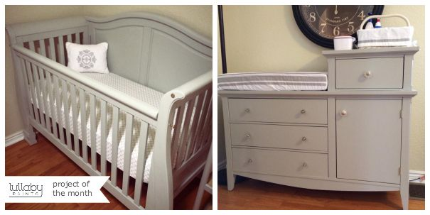 Lullaby Diy A Moonstone Painted Crib Changing Table Nursery