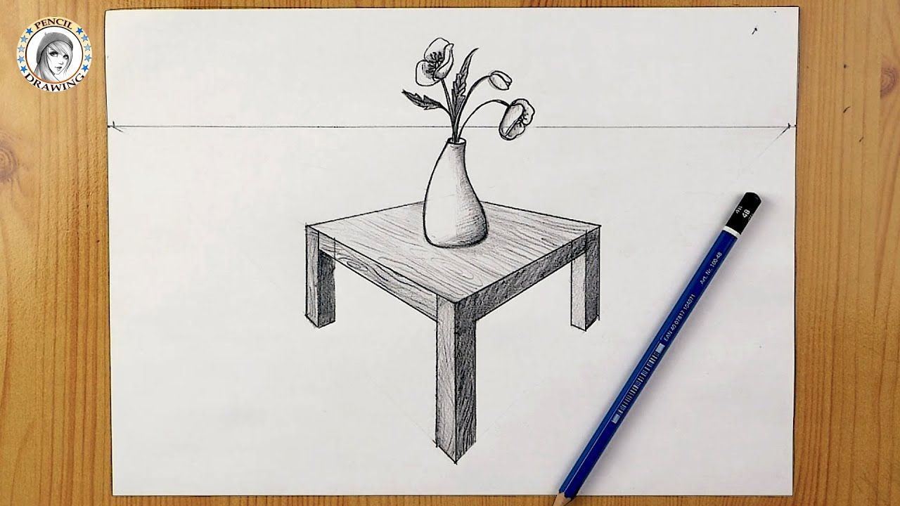 How To Draw A Table In Perspective رسم منظور رسم منظور جانبي رسم م In 2021 Drawing For Beginners Celebrity Drawings Drawing Tutorial