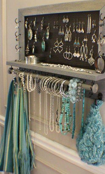 18 Beautiful Jewelry Display Ideas Craft Minute Holder Wall Hanger Mount Organizer