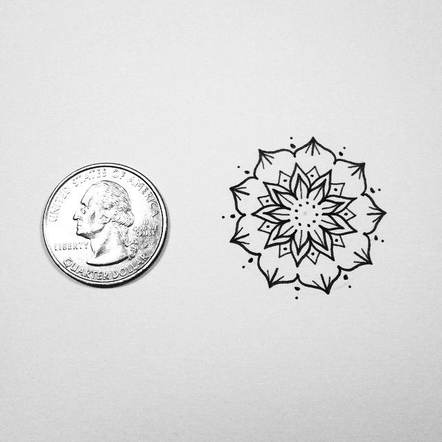 9 Mandala Tattoo Designs And Ideas: Mini Mandala. Also If Anyone Would Like A Small Tattoo