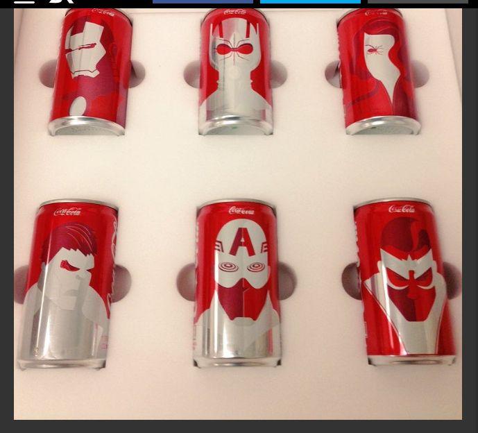 Captain America civil war Coke can designs  Yes.
