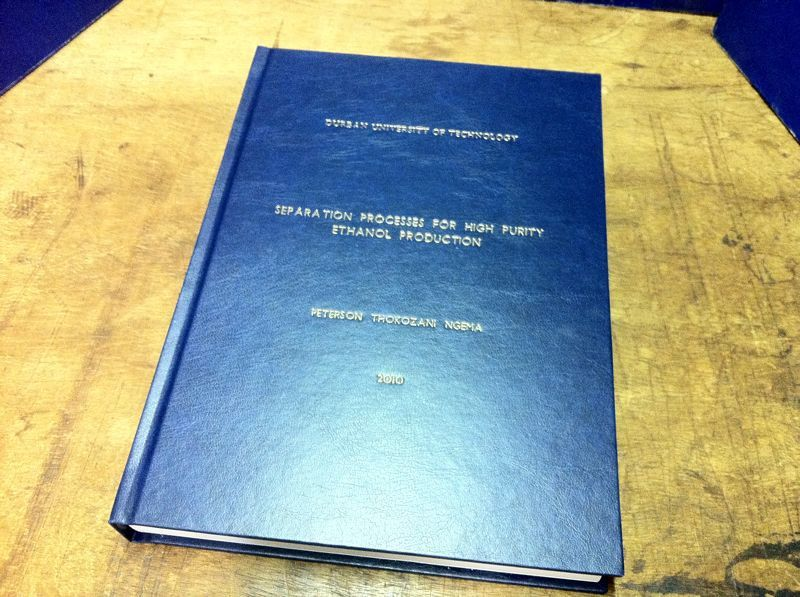 Navy Blue Thesis Cover | Thesis Binding, Binding Covers, Thesis