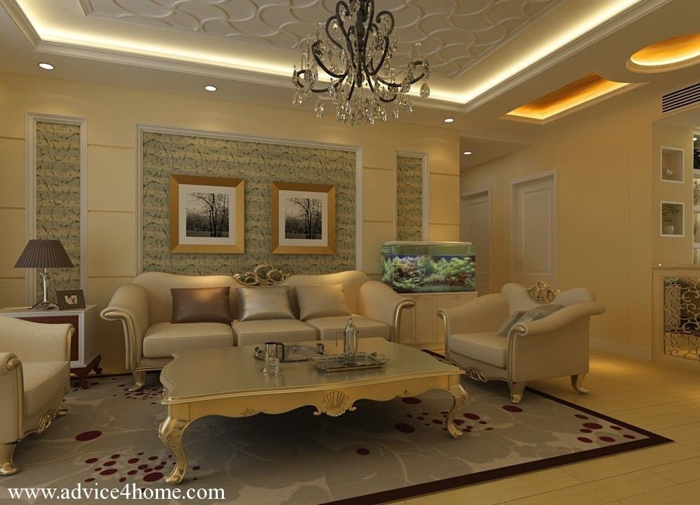 Interior ceiling designs for home image for Latest living room styles