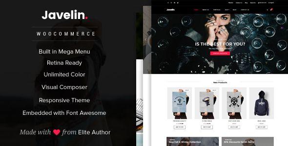 Javelin - Woocommerce WordPress Theme . Javelin has features such as ...