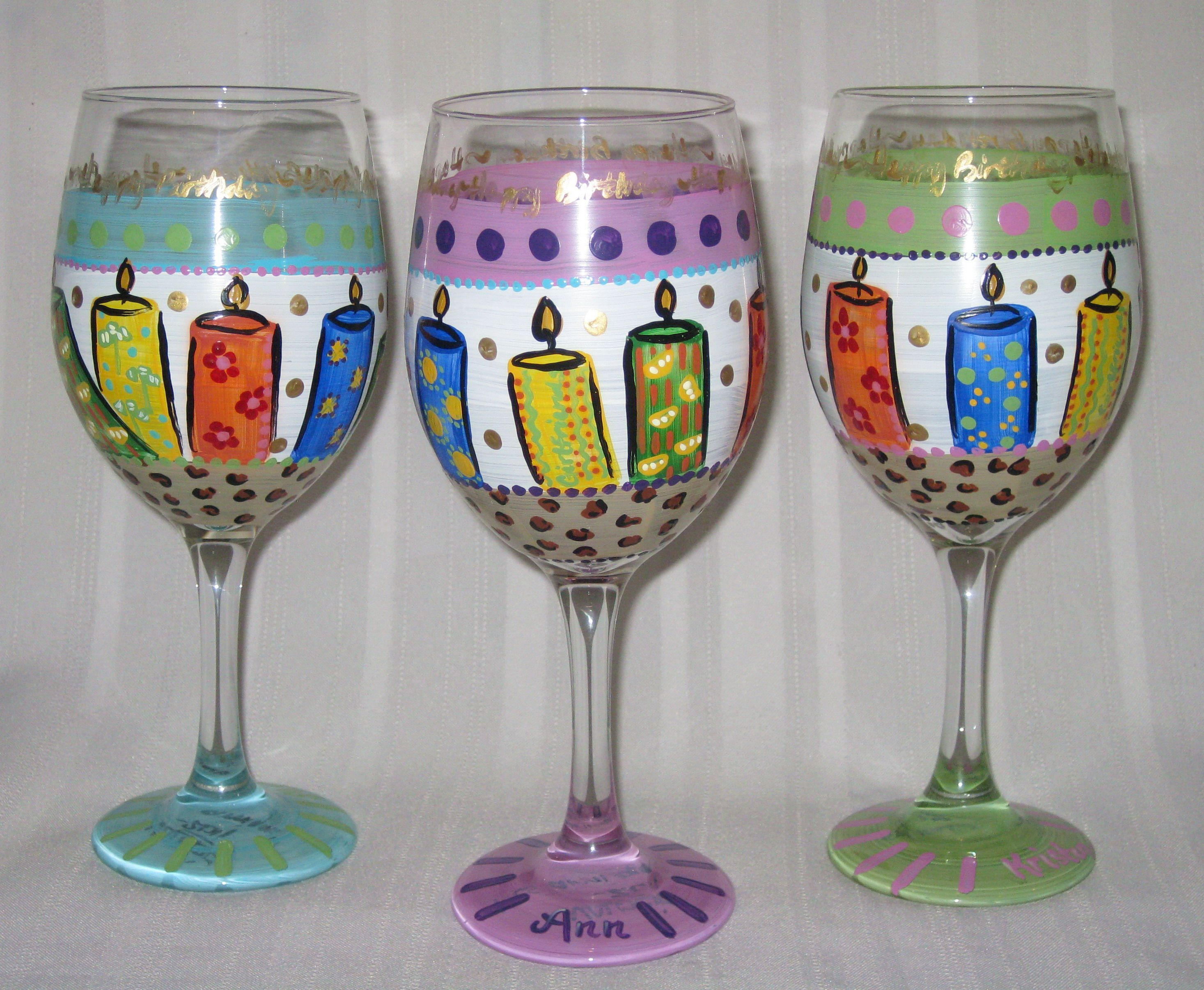 bottoms up...celebrate your birthday with personalized glassware, any theme  can be