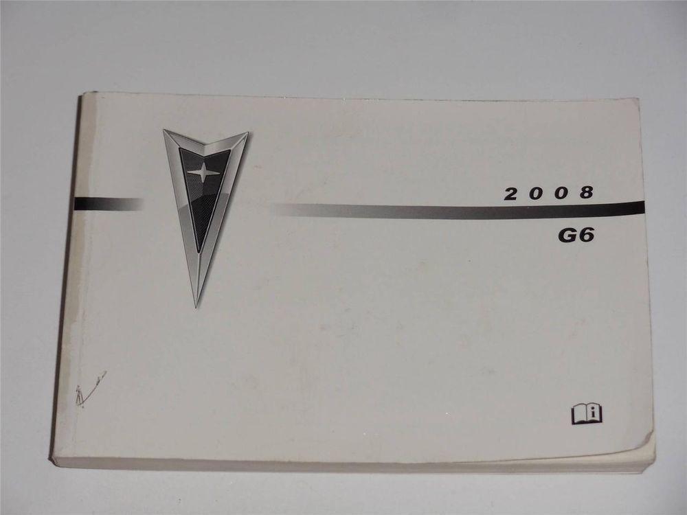 2006 Pontiac G6 Owners Manual Book Owners Manuals Manual Pontiac