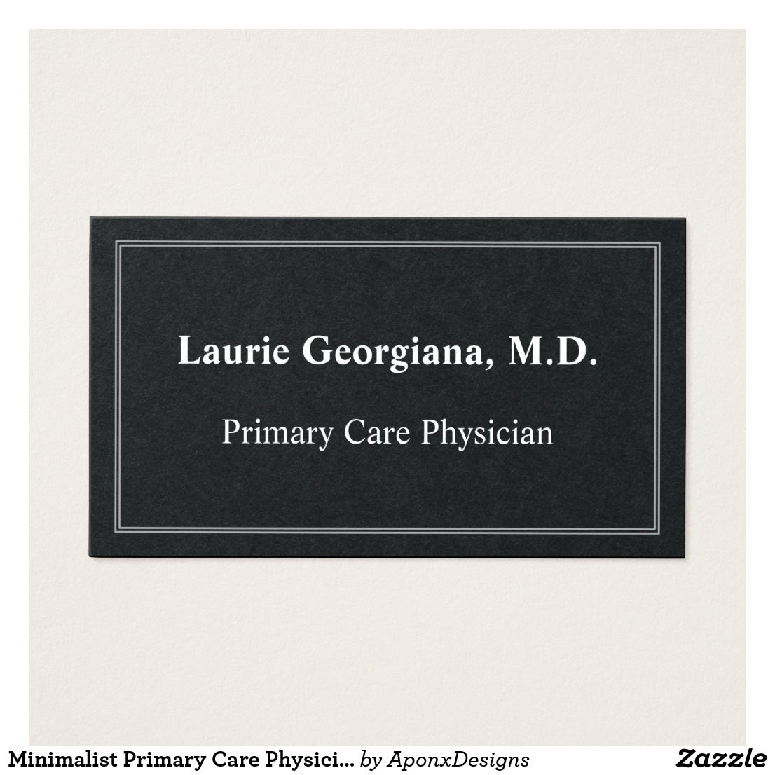Minimalist Primary Care Physician Business Card | Primary care ...