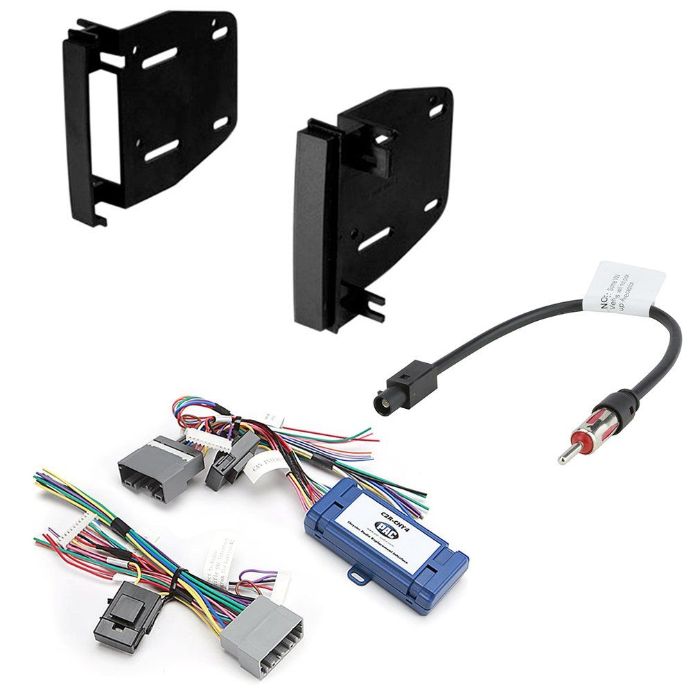 small resolution of car radio stereo cd player dash install mounting trim bezel panel kit harness for select