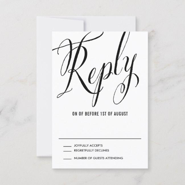 create your own response card  zazzle  response