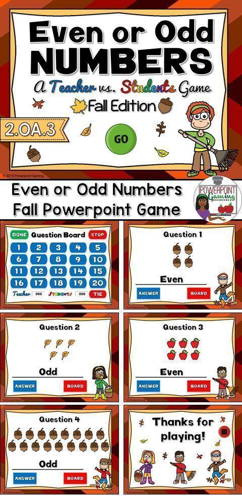 Teacher vs. Student Even or Odd Fall Edition Student