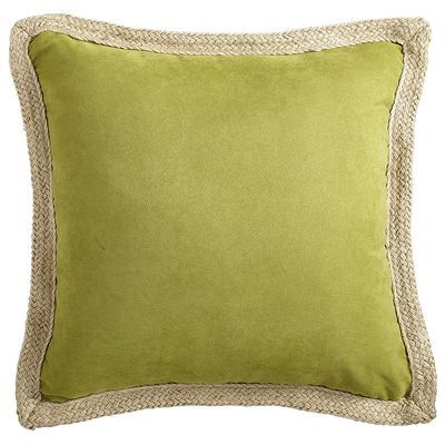 Calliope Jute Trim Pillow Moss Outdoor 25 00 Pillows Burlap Pillows Decorative Throw