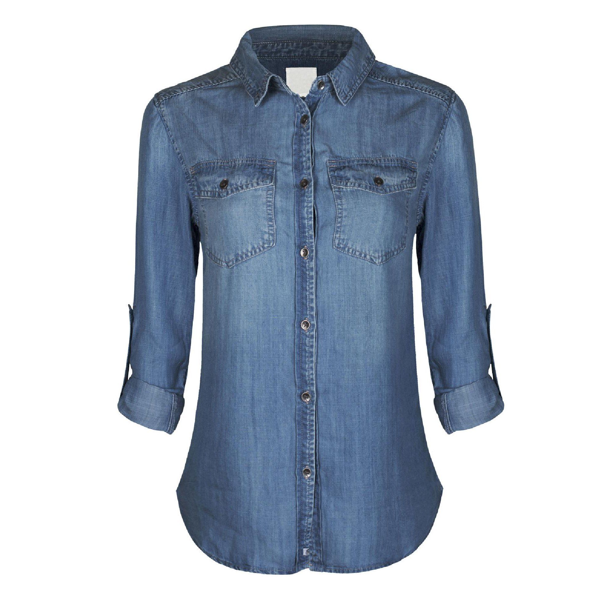Made By Olivia Made By Olivia Women S Classic Long Roll Up Sleeve Button Down Denim Chambray Shirt Walmart Com In 2021 Womens Denim Shirt Chambray Denim Shirt Blue Shirt With Jeans [ 2000 x 2000 Pixel ]