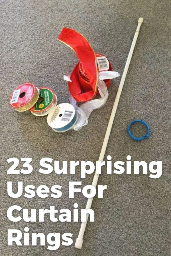 23 Surprising Ways To Use Curtain Rings In Your Home There are so many ways you can utlize curtain rings in your home! Help yourself decorate and organize the DIY way!