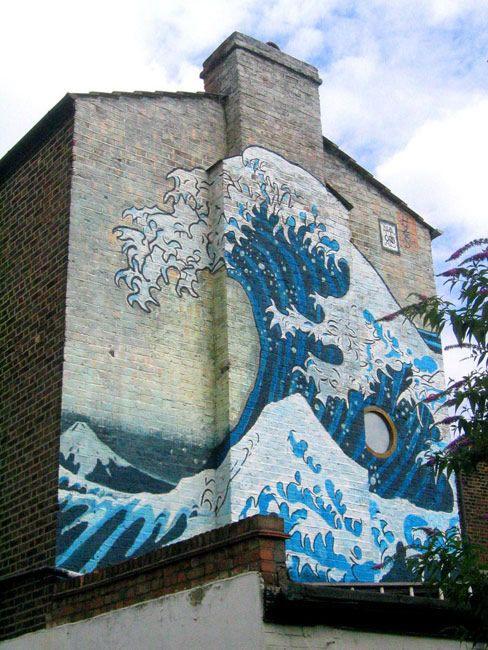 Streetart : Tidal wave