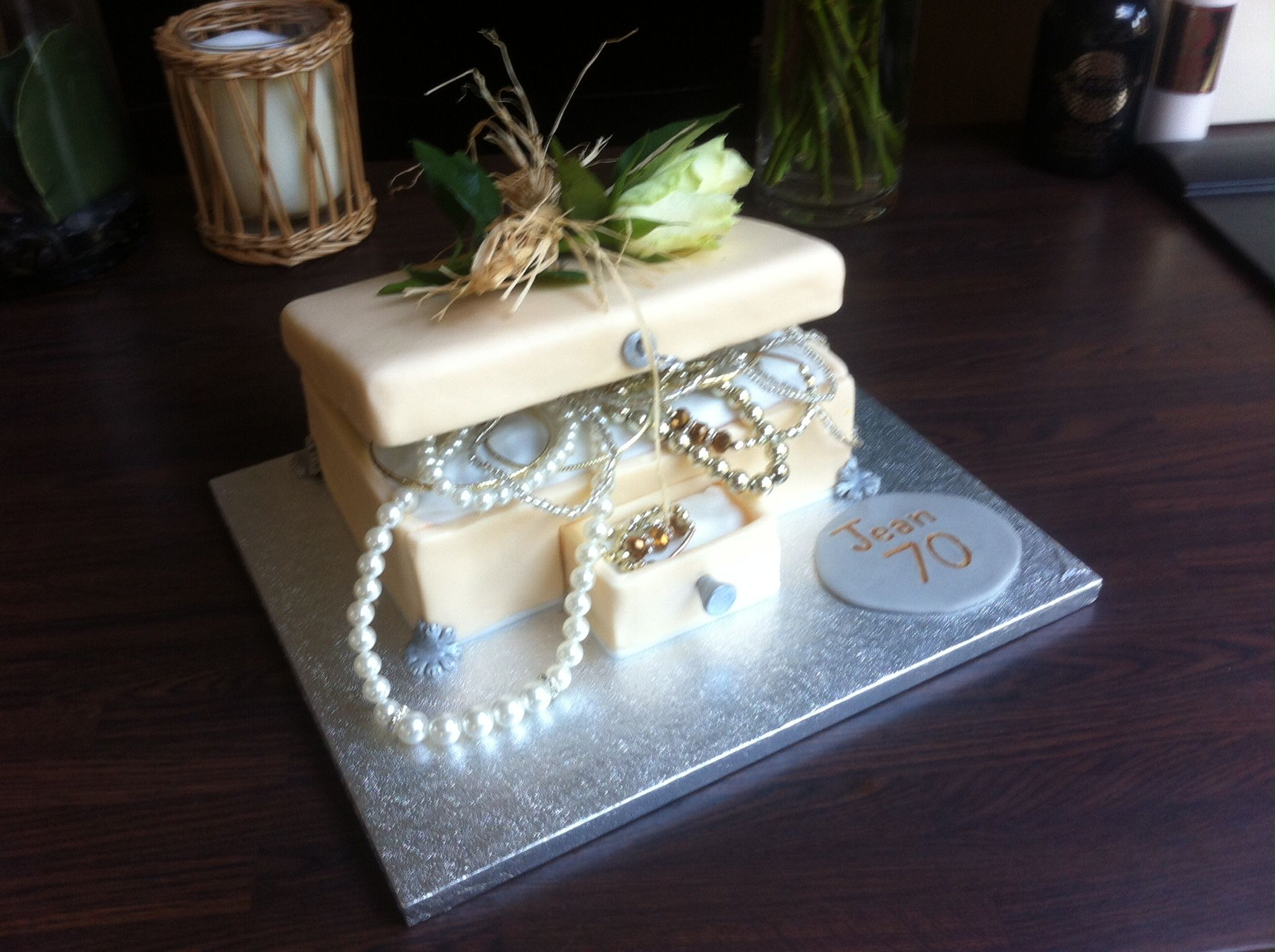 Jewellery box birthday cake for Jean the mother in law Jewelry