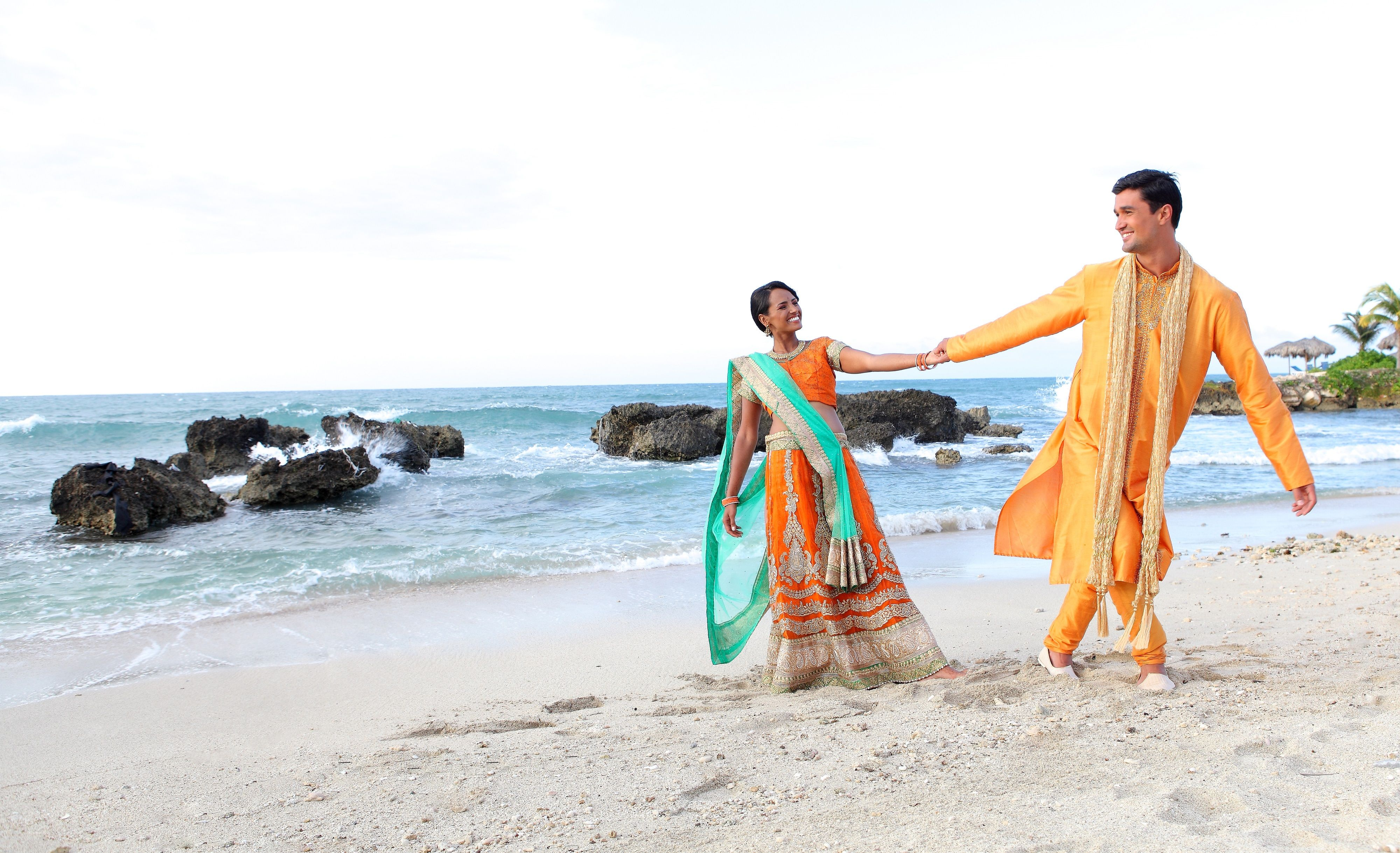 Barefoot bride! South Asian style destination wedding in Jamaica #SouthAsianWedding #WeddingsByPalladium