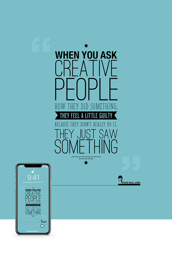 Iphone X Wallpaper Free Steve Jobs Quotes On Behance