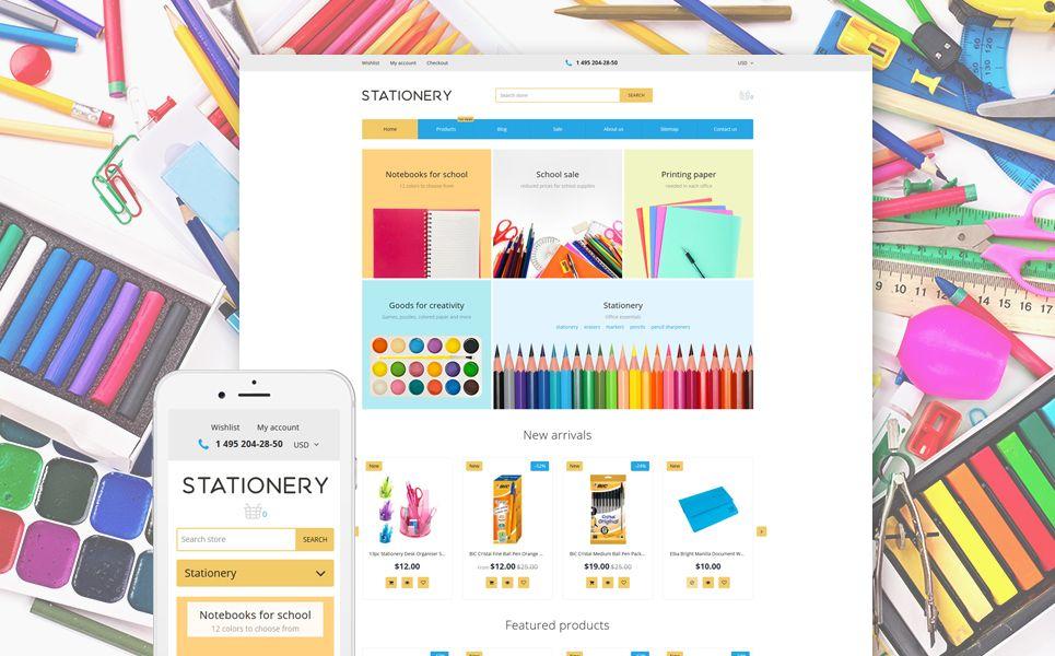 Stationery Stationery Store Responsive Shopify Theme Ad Store Stationery Responsive Theme Opencart Templates Stationery Store Shopify Theme