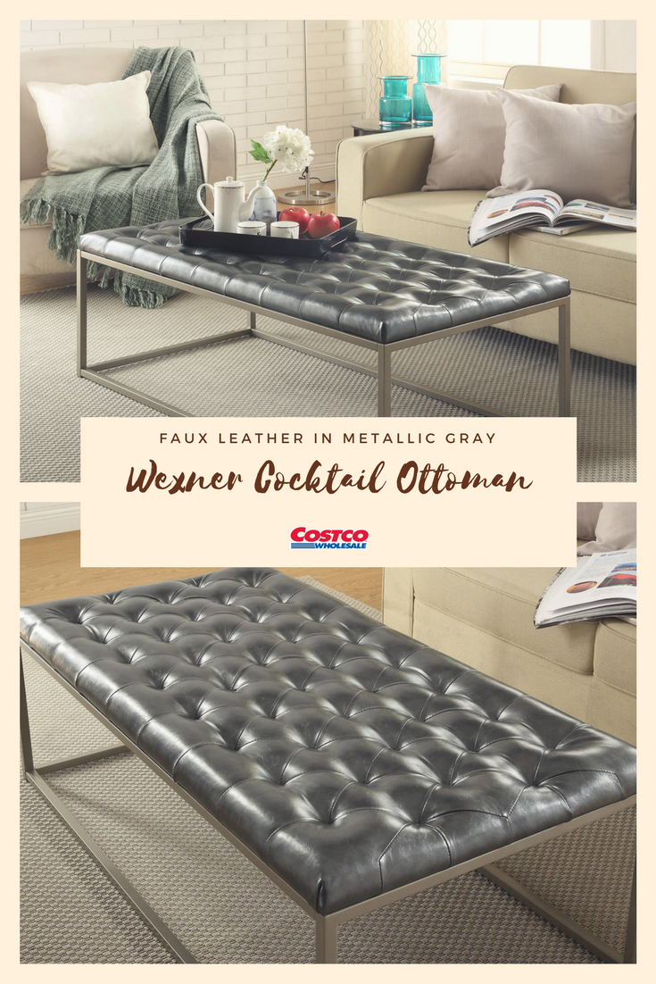 The Wexner Cocktail Ottoman Will Add A Delightful And Modern Touch