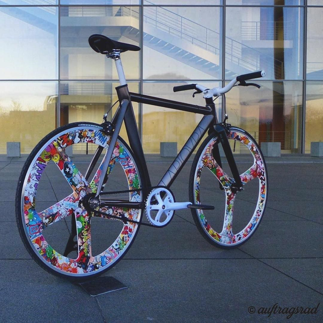 Pin By Jonathon On Fixed Gear Bicycle Design Fixie Sticker Bomb