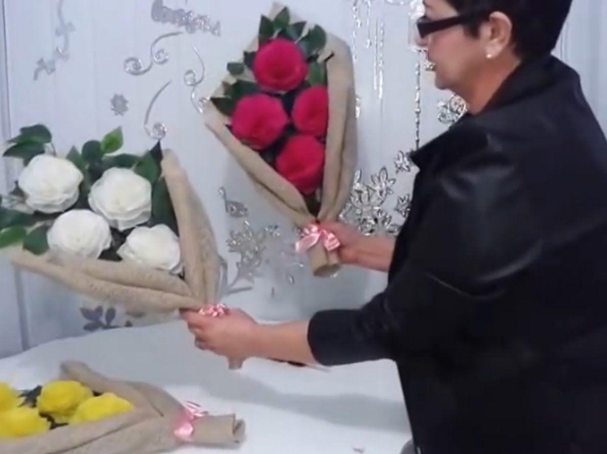 Aula 11 Como Fazer Arranjos Com Flores De Papel Crepom