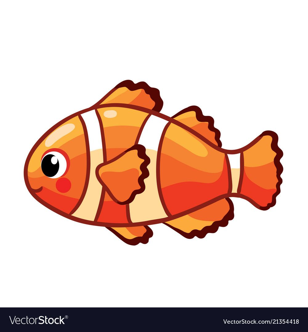 Colorful Sea Fish Royalty Free Vector Image Vectorstock Fish