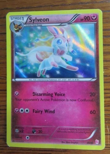 Pokemon-XY-Trainer-Kit-Sylveon-30-30-Holo-Near-Mint-Fast-Shipping