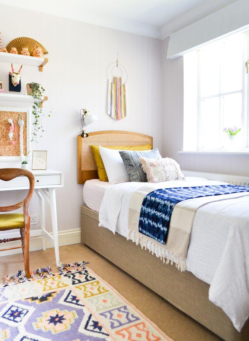 A Global Boho Kids Bedroom Makeover Room, Girl Bedroom