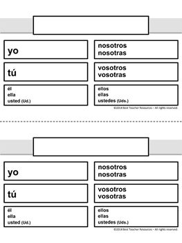 Spanish verb charts laminate  reuse with vis  markers also rh pinterest