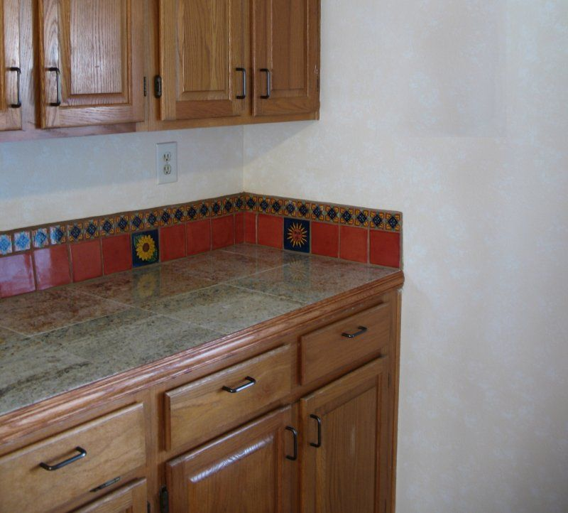 Mexican Tile Backsplash Ideas For Kitchen Part - 34: Mexican Tile Liner Backsplash, Mexican Home Decor Gallery. Mission  Accesories, Copper Sinks, Mirrors, Tables And
