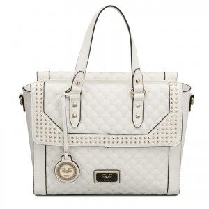 You ll look so fresh and stylish wearing the Versace 19V69 Italia Micro  Studded Palazzo Tote in white. ce7db1827c108