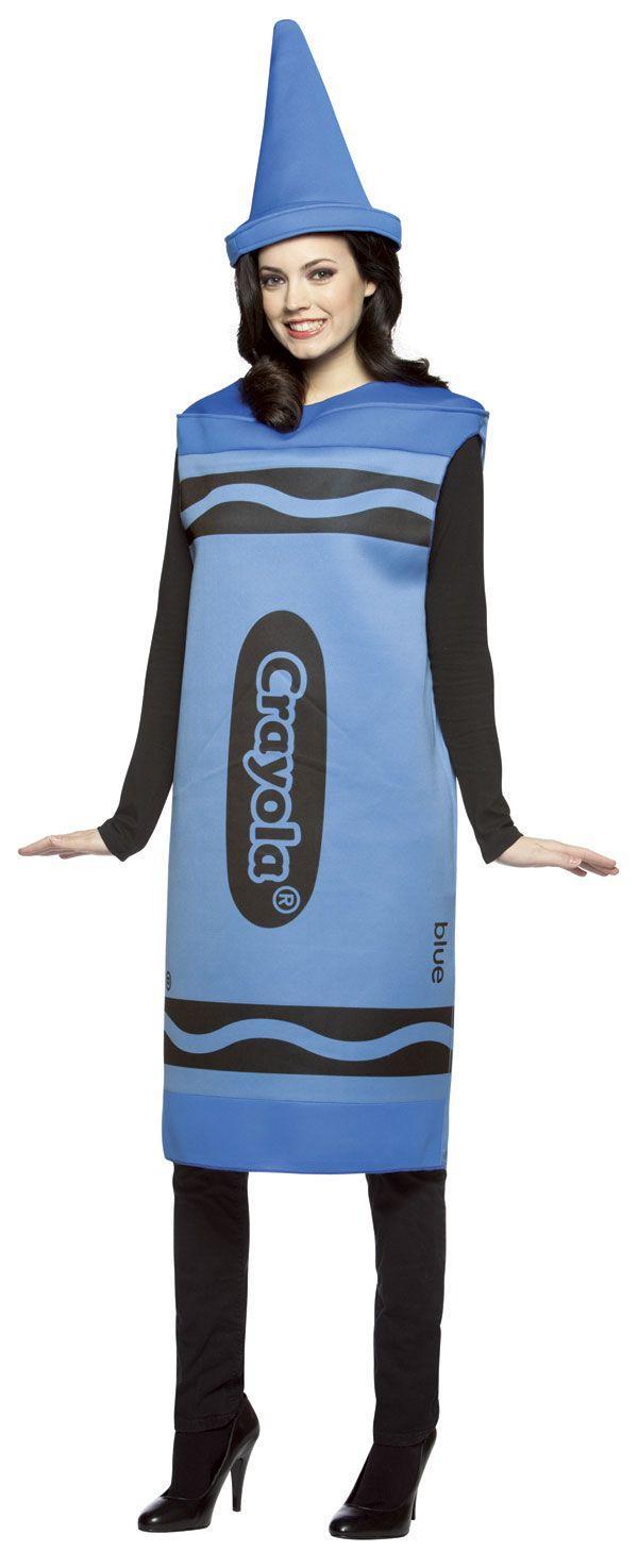 NEW Rasta Imposta Crayola Crayon TEEN Halloween Costume Sky Blue