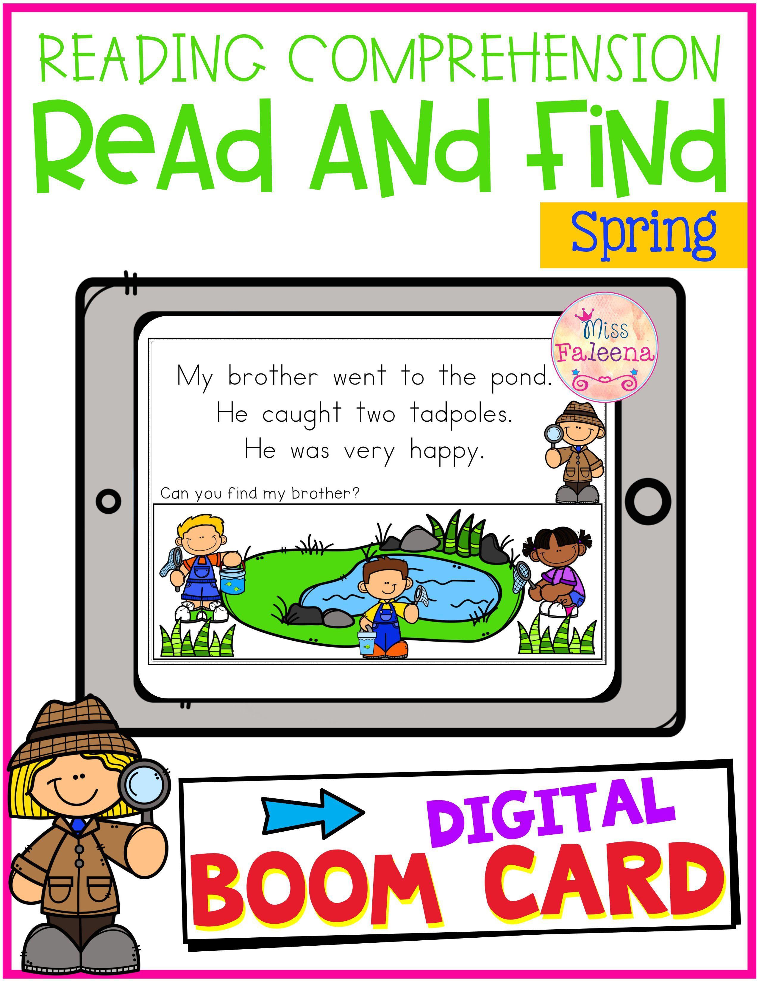 Reading Comprehension Boom Cards Reading Comprehension First Grade Reading Homeschool Programs First grade reading programs online