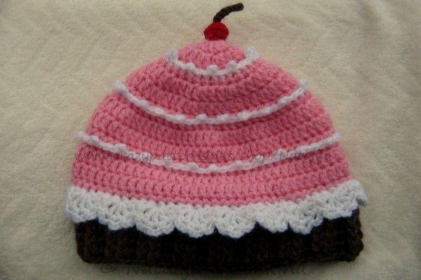 Babymütze oder Kindermütze Kuchen Häkelanleitung | Mützen ...