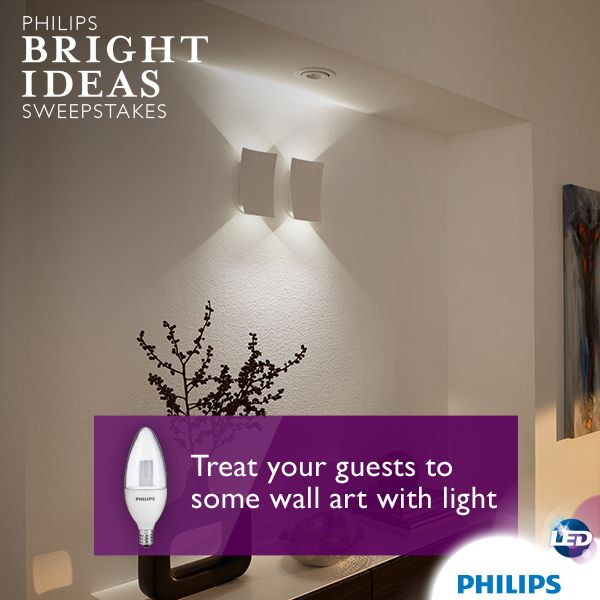 Create Visual Interest By Illuminating Hallway Alcoves And Niches With Accent Lighting Using Philips B Lighting Makeover Wall Art Lighting Dimmable Led Lights