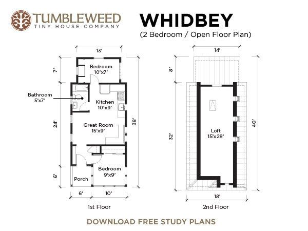 A Little House in Little Rock Built with a Tumbleweed Tiny Houses – Tumbleweed Tiny House Floor Plans