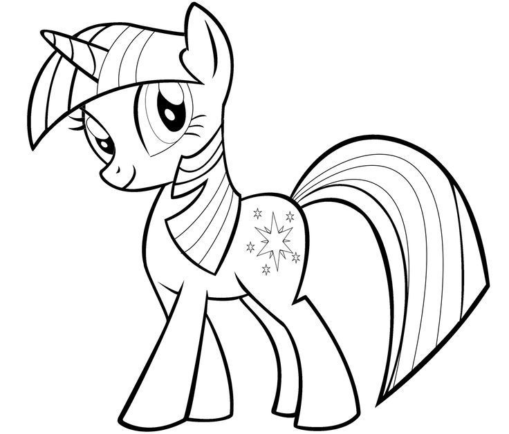 My Little Pony Twilight Sparkle Coloring Pages My Little Pony Twilight Ausmalbilder Malvorlagen Pferde