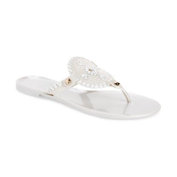 9c3fe579215e Women s Jack Rogers  Georgica  Jelly Flip Flop ( 50) ❤ liked on Polyvore  featuring shoes