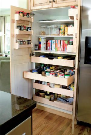 Double Duty Remodeling Deep Pantry Organization Deep Pantry Kitchen Pantry Cabinets