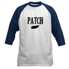 Patch and a feather Baseball Jersey. YES!! I must get this!